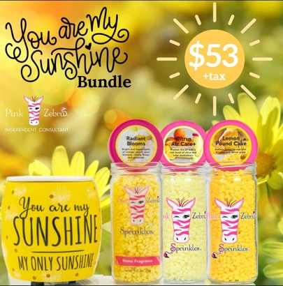 Pink Zebra Sunshine Warmer with our Fun Spring Scents
