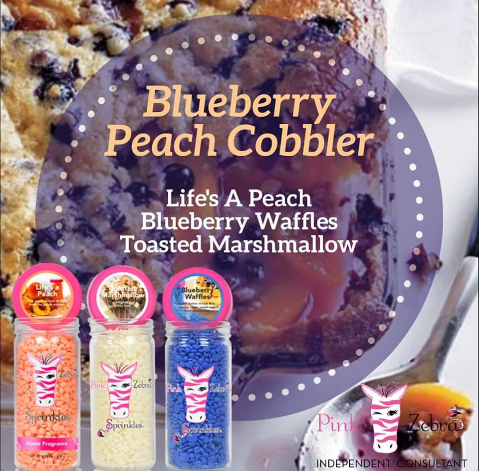 Blueberry Peach Cobbler Sprinkle Recipe