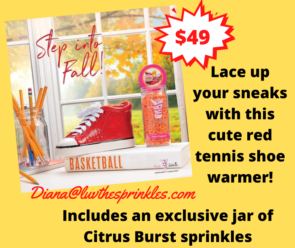 Pink Zebra Red Tennis Shoe Warmer Special is now available!